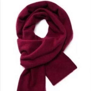 Burgundy J.Crew Collection Cashmere Wrap Scarf